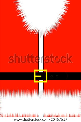 Santa's Coat in close-up view - stock vector