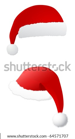 santa's hat - vector - stock vector