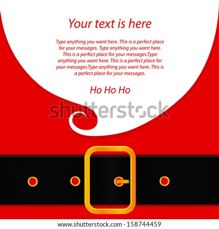 Santa's message banner - stock vector