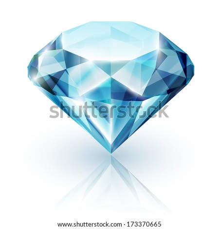 Sapphire on white background - stock vector