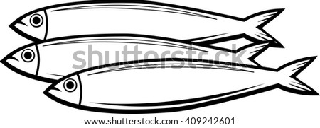 sardine fish - stock vector
