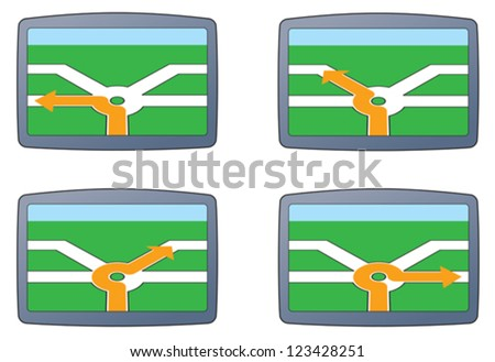 SAT-NAV directions, business direction - stock vector