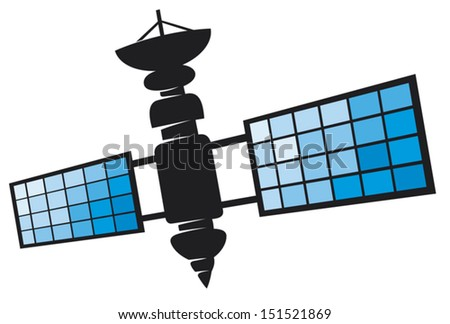 satellite  - stock vector