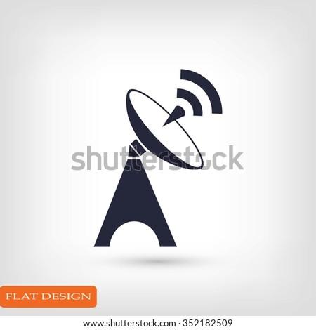 Satellite antenna icon - stock vector