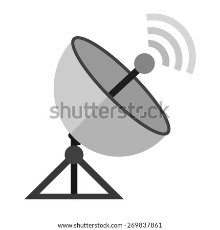 Satellite, dish, rays icon vector image. Can also be used for communication, connection, technology. Suitable for web apps, mobile apps and print media.