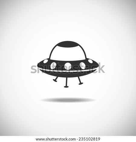Satellite Space Station flying over Earth. Isolation icon - stock vector