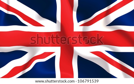 Satin UK waving flag, eps10 vector illustration - stock vector