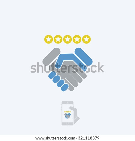 Satisfaction for best service - stock vector