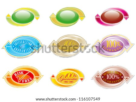 Satisfaction Guaranteed, Special Offer editable vector graphics