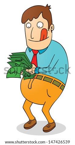 satisfying salary - stock vector