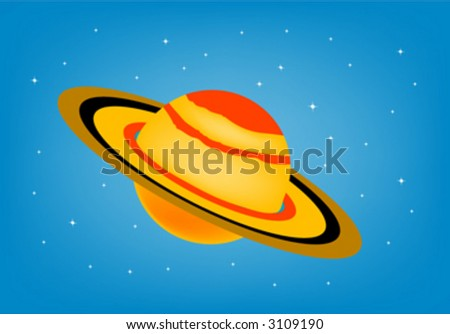 saturn - stock vector