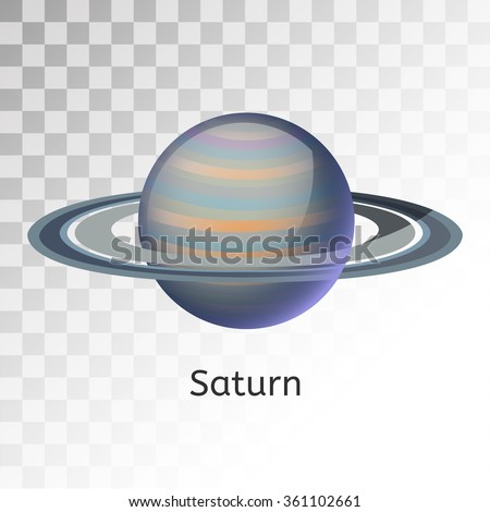 Saturn planet 3d vector illustration. Globe Saturn texture map. Globe vector Saturn view from space. Saturn illustration. Vector Saturn planet. Saturn planet silhouette, world map, 3d Saturn  - stock vector