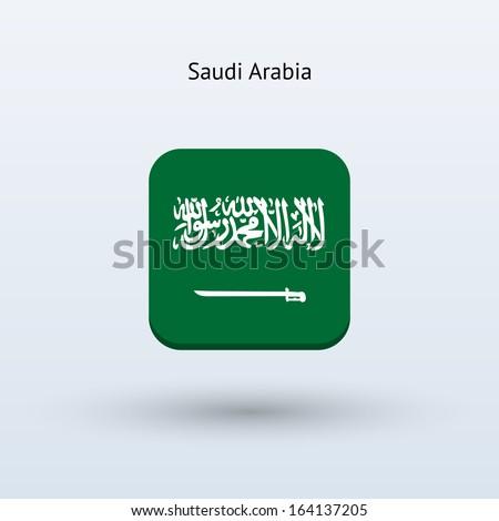 Saudi Arabia flag icon. Vector illustration. - stock vector