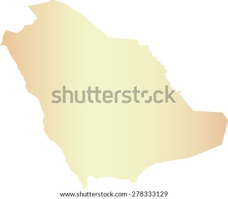 Saudi Arabia map outlines, vector map of Saudi Arabia in contrasted light color - stock vector