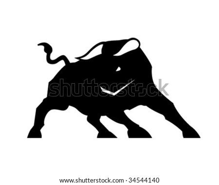 savage bull - stock vector