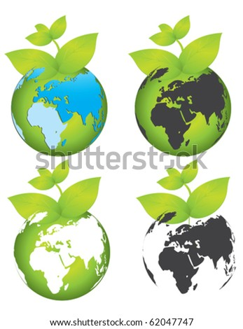 save earth - stock vector
