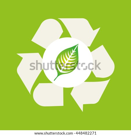 save ecology bio icon, green concept, vector illustration