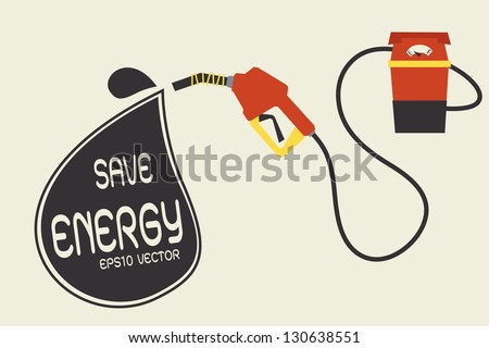 save energy - stock vector