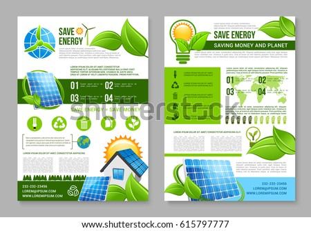 save energy brochure template saving energy stock vector 615797777 shutterstock. Black Bedroom Furniture Sets. Home Design Ideas