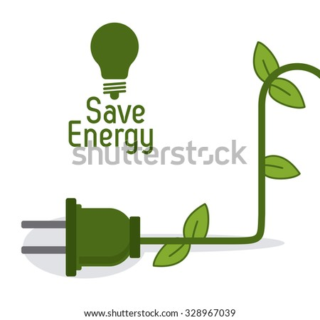 Save energy stock vectors vector clip art shutterstock for Save energy painting