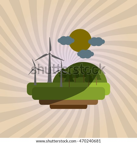 Save Energy concept with icon design, vector illustration 10 eps graphic.