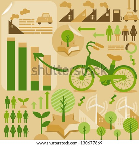 save energy/infographic - stock vector
