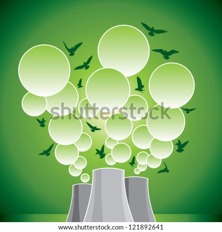 save environment to pollution - stock vector