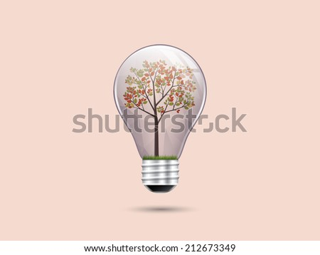 Save green in light bulb