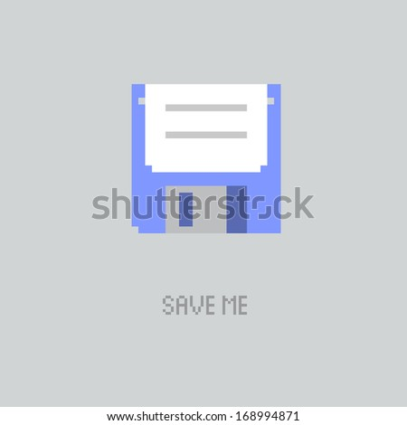 save me - stock vector