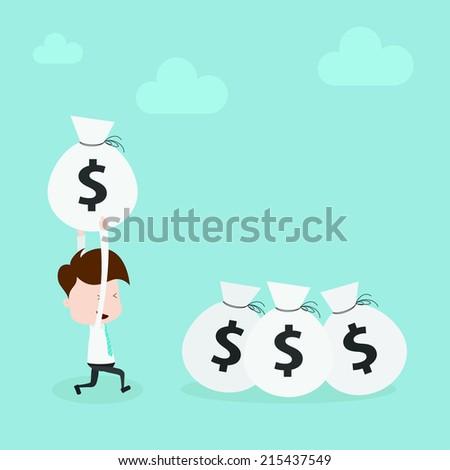 Save money. - stock vector