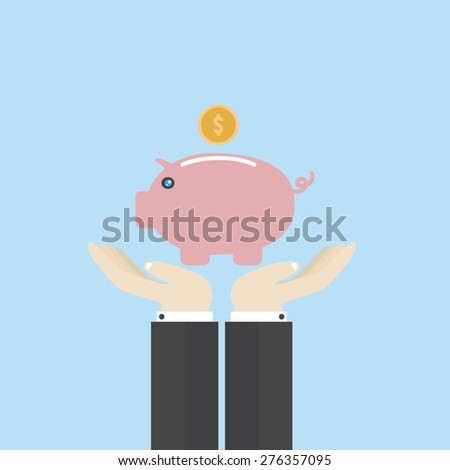 Save money - stock vector