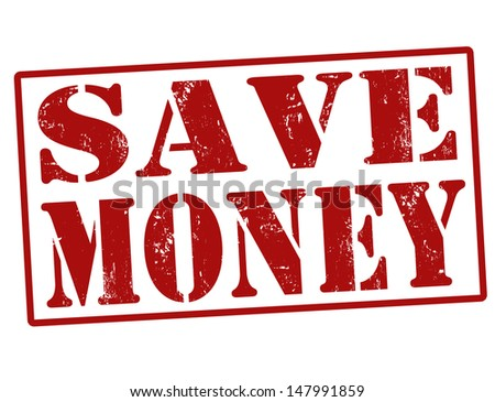 Save Money grunge rubber stamp over a white background, vector illustration - stock vector