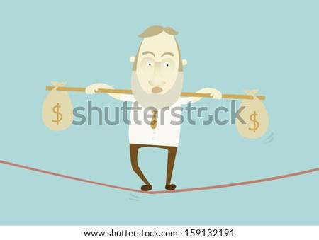 save money to balance - stock vector
