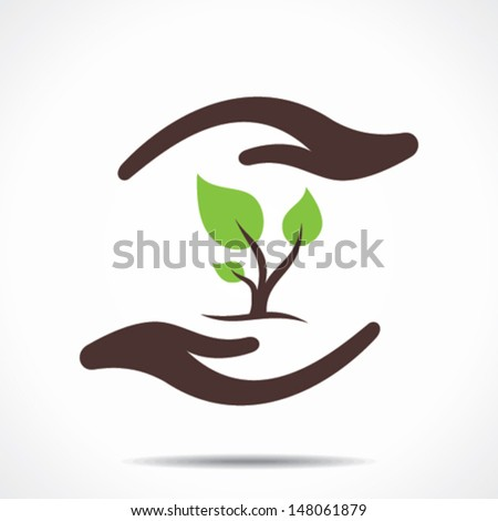 save nature concept vector - stock vector