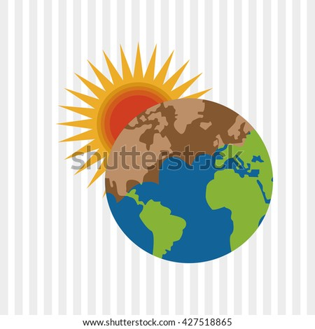 Save planet design. Enviroment icon. Flat illustration
