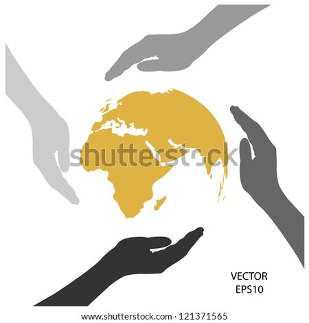 save the blue planet,save the earth,green environment,vector. - stock vector