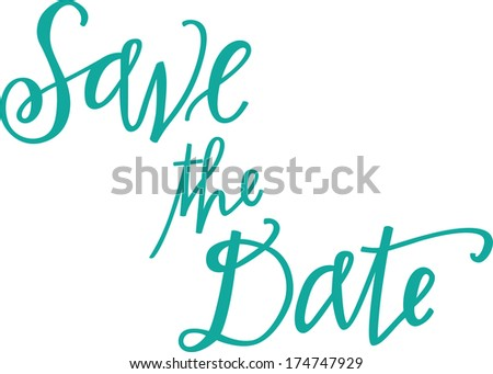 Save the Date - stock vector