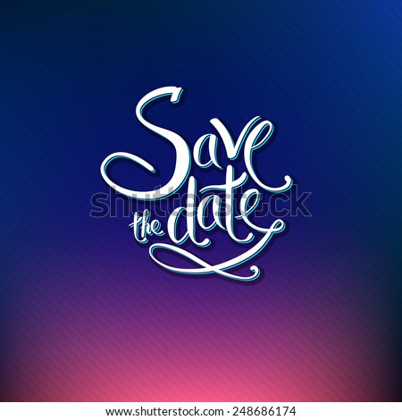 Save date card design special occasion stock vector 2018 248686174 save the date card design for a special occasion or wedding invitation with ornamental scrolling white stopboris Choice Image