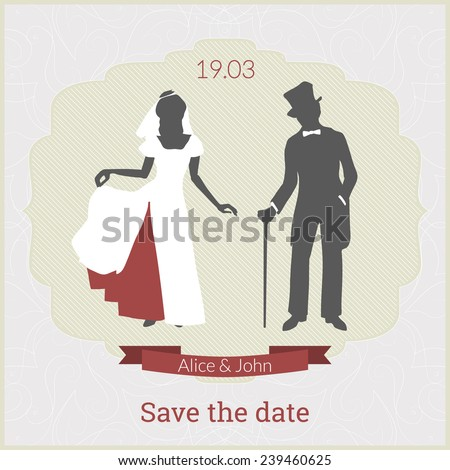 Stock images similar to id 60792688 newlyweds retro clip art for Save the cat template
