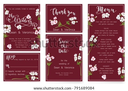 Save Date Card Wedding Invitation Greeting Stock Vector