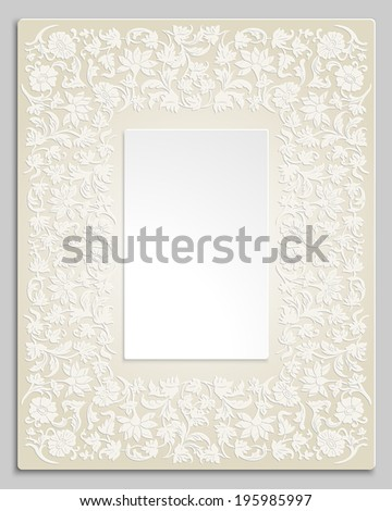 Wedding Invitation Border Frame With Flowers Floral Luxury