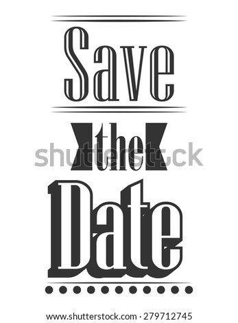 save the date, illustration in vector format