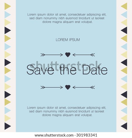 Save the date, Invitation Card.Vector Illustration.  - stock vector