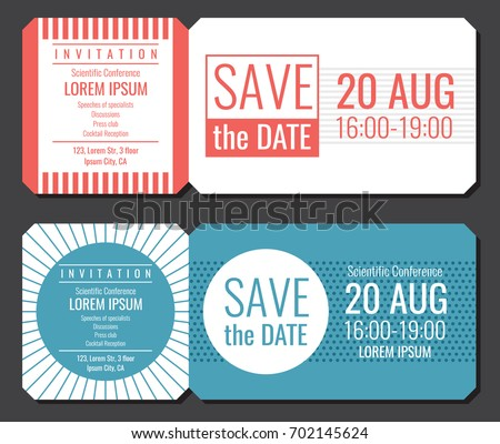 Save date minimalist invitation ticket vector stock vector 702145624 save date minimalist invitation ticket vector stock vector 702145624 shutterstock stopboris