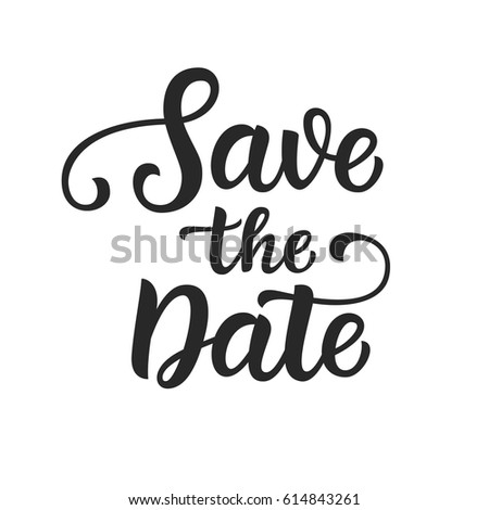 Save Date Photo Overlay Vintage Hand Stock Vector 614843261 ...