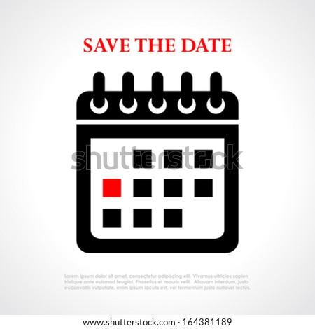 Save the date vector poster - stock vector