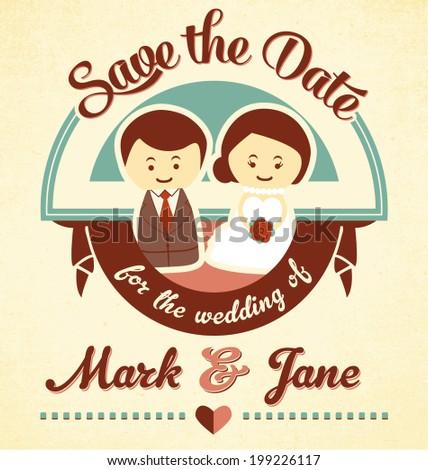 Save date wedding invitation card stock vector royalty free save the date wedding invitation card stopboris Images