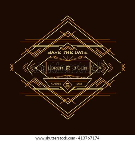 save date wedding invitation card art stock vector 413767174