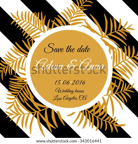 Save The Date Wedding invitation Card. Save the date design.