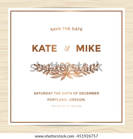 Save date wedding invitation card template stock vector hd royalty save date wedding invitation card template stock vector hd royalty free 451926757 shutterstock stopboris Choice Image